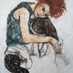 """Riproduzione del """"Ritratto di Edith"""" di Egon Schiele - Laura Di Bidino"""